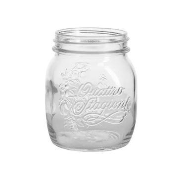 4er Set Quattro Stagioni Glas 0,70l Vorratsglas Einmachglas incl. Bormioli Rezeptheft – Bild 6