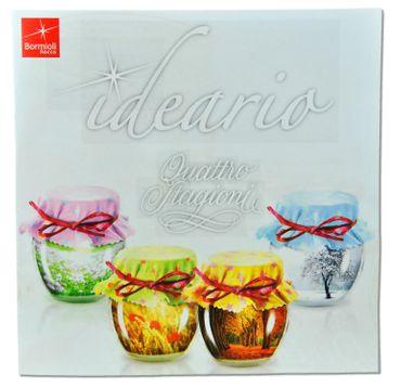 4er Set Quattro Stagioni Glas 0,70l Vorratsglas Einmachglas incl. Bormioli Rezeptheft – Bild 7
