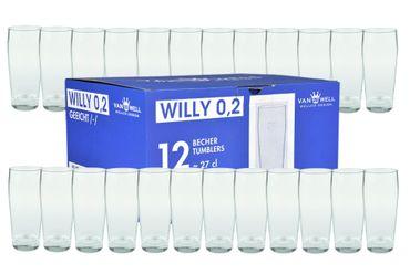 24er Set Bierglas Willibecher 0,2L geeicht