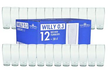 24er Set Bierglas Willibecher 0,3L mit Eichstrich