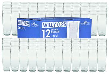 120er Set Bierglas Willibecher 0,25l geeicht