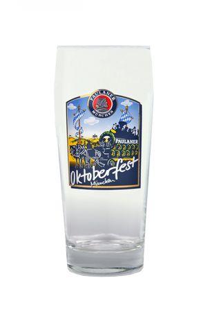 12er Set Paulaner Bierglas - 0,5 Liter Biergläser mit Oktoberfest Dekor