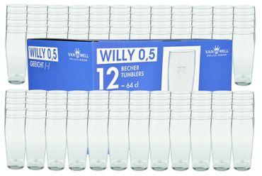 120er Set Bierglas Willibecher 0,5l geeicht