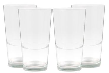 4er Set Latte Macchiato Blancho Glas - 39cl Kaffeeglas stapelbar ohne Dekor – Bild 1