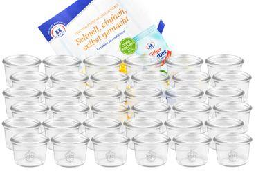 36er Set Weck Gläser 80ml Sturzgläser inkl. Gelierzauber Rezeptheft von Diamantzucker – Bild 1