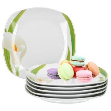 6er Set Dessert- Kuchenteller Calla 19cm – Bild 1
