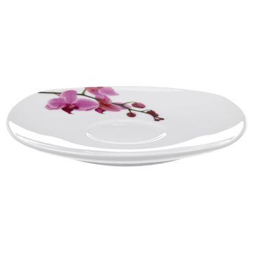Kombiservice 124tlg. Kyoto Orchidee leicht eckig Porzellan für 12 Personen weiß mit Dekor – Bild 11