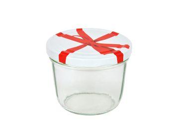 75er Set Sturzglas 230 ml To 82 Schleifendekor Deckel incl. Diamant Gelierzauber Rezeptheft