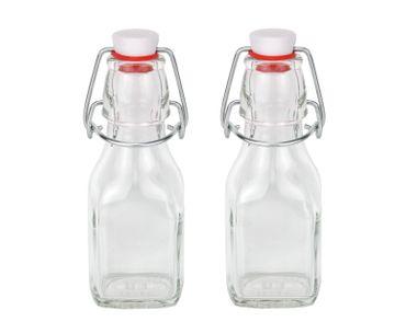 2er Set Glasflaschen Serie Swing mit Bügelverschluss 125ml – Bild 1