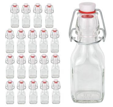 20er Set Glasflaschen Serie Swing mit Bügelverschluss 125ml – Bild 1