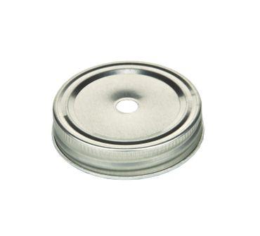 6er Set Glasbecher mit Henkel, silbernen Deckel und rot/weiß gestreiftem Trinkhalm inkl. Diamantzucker Sirup Rezeptheft – Bild 2