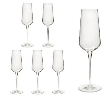 6er Set Sektgläser inAlto 28 cl Champagnergläser aus erstklassigem Kristallglas, bessere Bruchfestigkeit, filigranes Design – Bild 1