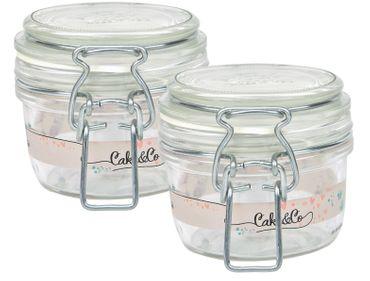 2er Set Einmachglas Bügelverschluss Fido 0,125L Cake&Co gelb incl. Bormioli Rezeptheft – Bild 2