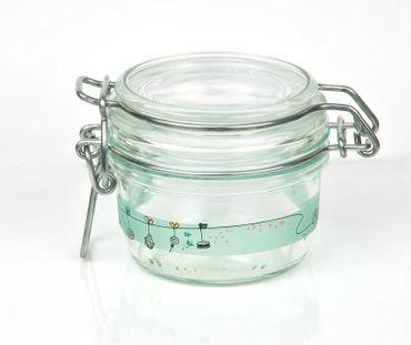 12er Set Einmachglas Bügelverschluss Fido 0,125L Cake&Co grün incl. Bormioli Rezeptheft – Bild 4