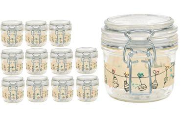 12er Set Einmachglas Bügelverschluss Fido 0,2L Cake&Co gelb incl. Bormioli Rezeptheft – Bild 2