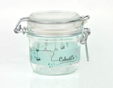 2er Set Einmachglas Bügelverschluss Fido 0,2L Cake&Co grün incl. Bormioli Rezeptheft – Bild 4