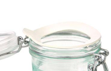 4er Set Einmachglas Bügelverschluss Fido 0,2L Cake&Co grün incl. Bormioli Rezeptheft – Bild 6