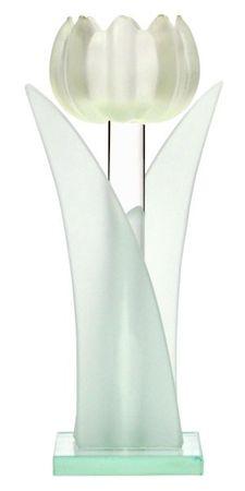 2er Set Teelichthalter Tulpe aus Glas 19cm