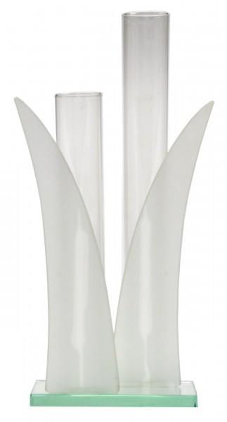 vase blume ca 24cm glas vasen. Black Bedroom Furniture Sets. Home Design Ideas