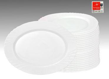 24er Set Platte Ebro oval 35x26cm aus Opal-Hartglas – Bild 1