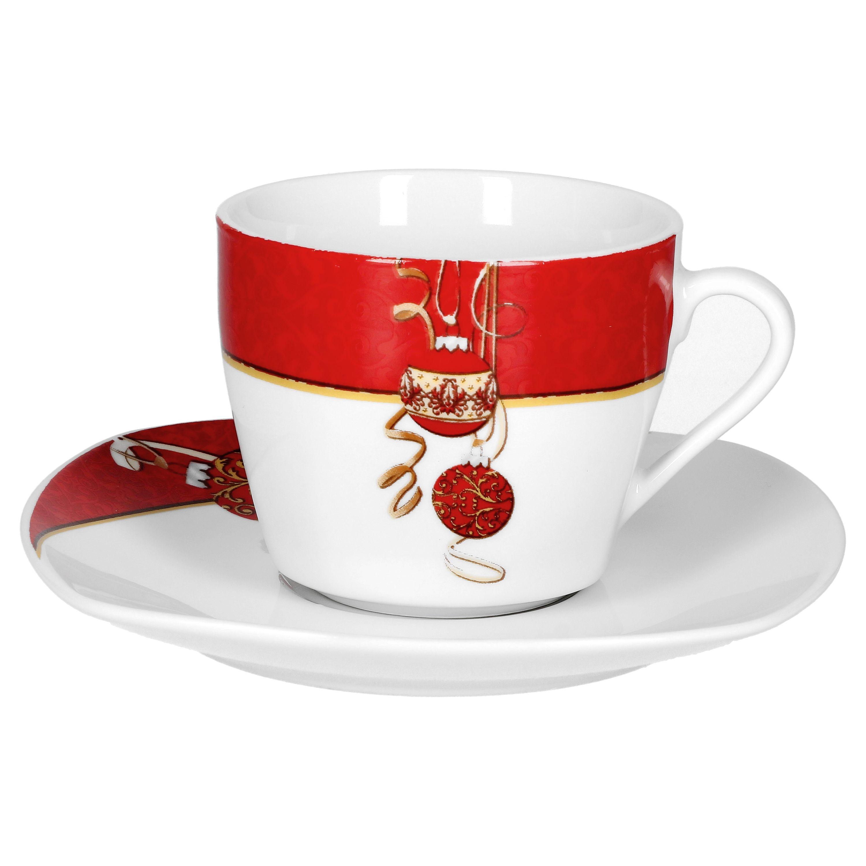 kaffeeservice magic christmas 36tlg f r 12 personen wei mit weihnachtsdekor porzellan. Black Bedroom Furniture Sets. Home Design Ideas