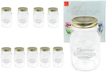 10er Set Einmachglas Original Quattro Stagioni 0,5L incl. Bormioli Rezeptheft – Bild 1