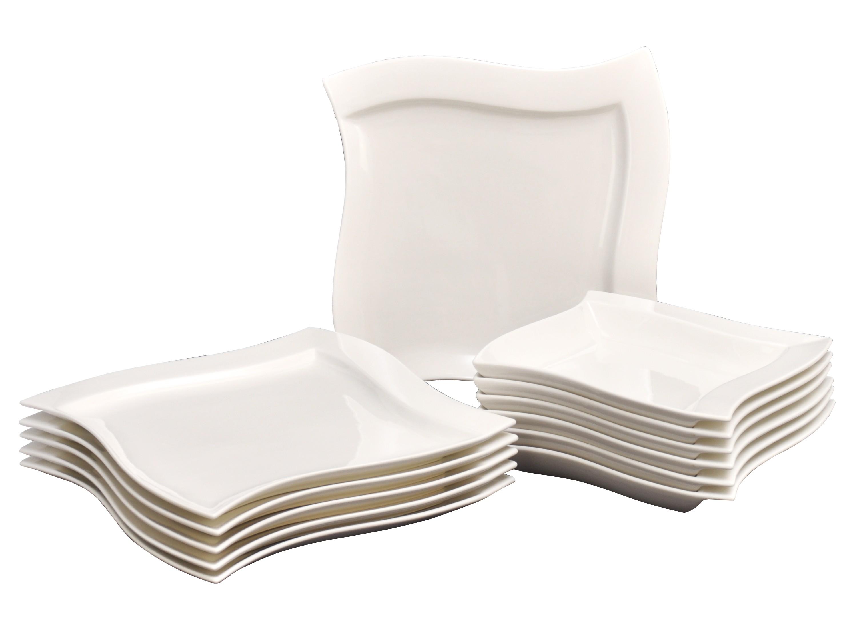 tafelservice emotion 24tlg f r 12 personen porzellan tafelservice ohne dekor. Black Bedroom Furniture Sets. Home Design Ideas