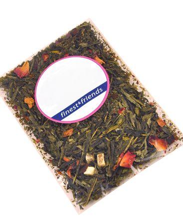 3-tlg. Jameson & Tailor Tee-Set - Teekanne mit 2 Teetassen - Shabby Chic Holz grün - 4210 + 2x 4212 incl. Teeprobe