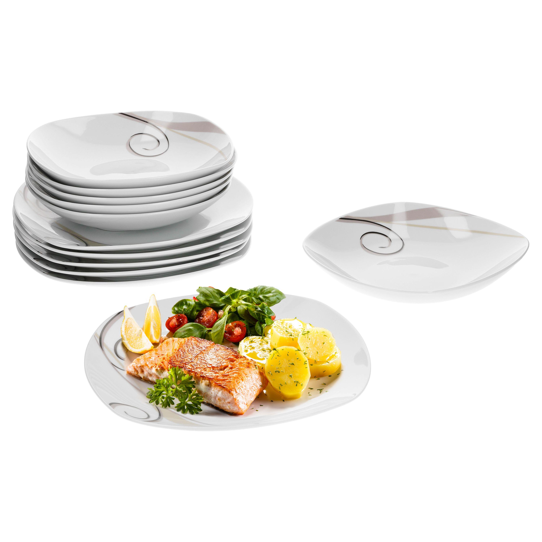 tafelservice theresa 24tlg f r 12 personen porzellan tafelservice mit dekor. Black Bedroom Furniture Sets. Home Design Ideas