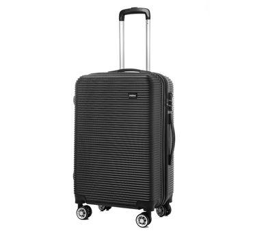 Reisekoffer M L XL  Hartschalenkoffer Handgepäck Trolley in Grau, Schwarz und Blau – Bild 12