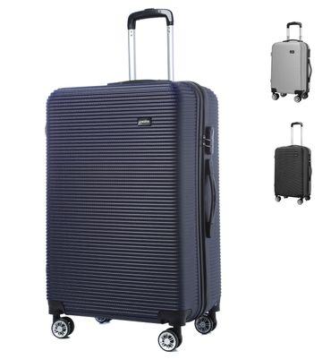 Reisekoffer M L XL  Hartschalenkoffer Handgepäck Trolley in Grau, Schwarz und Blau – Bild 1