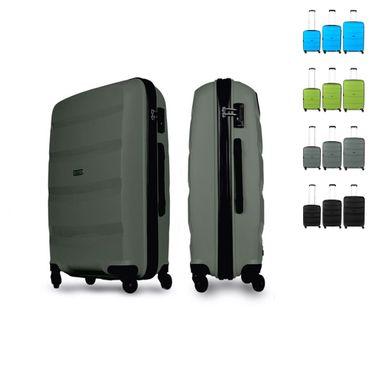 Reisekoffer Gr. L 78L Premium Hartschalenkoffer Handgepäck Trolley Reisetasche – Bild 3