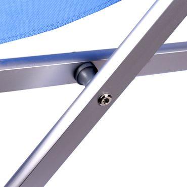 Liegestuhl klappbar, verstellbar, leicht aus Aluminium in blau mit 5 Positionen – Bild 5