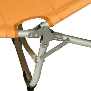 Gartenliege klappbar - Liegestuhl mit Kissen und verstellbarer Lehne in Orange, Grün, Blau - platzsparende Sonnenliege für Garten, Balkon oder Strand – Bild 10