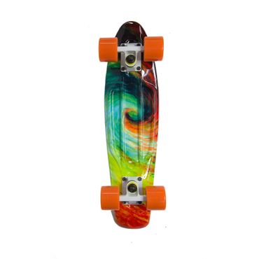 Water Drape Print Skateboard Penny Board Retro Mini Cruiser Patineta  – Bild 14