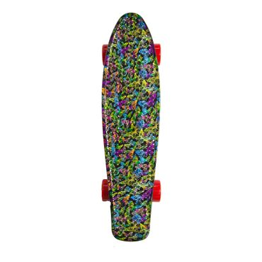 Water Drape Print Skateboard Penny Board Retro Mini Cruiser Patineta  – Bild 6