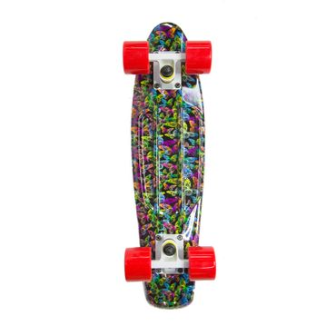 Water Drape Print Skateboard Penny Board Retro Mini Cruiser Patineta  – Bild 8