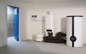 Bild: Einbausituation Gas-Brennwert-Wandheizkessel Logamax plus GB162
