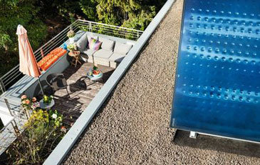 Bild: Einbausituation Solarkollektor Logasol SKT 1.0