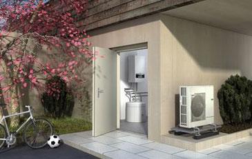 Bild: Luft-Wasser-Wärmepumpe Logatherm WPLS