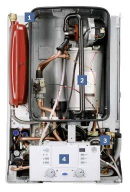 Junkers / Bosch Gasheizung CerapurAcu ZWSB 22/28-3 Innenansicht