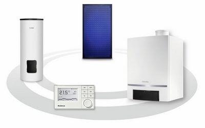 Gasheizung mit Regelung Speicher und Solaranlage