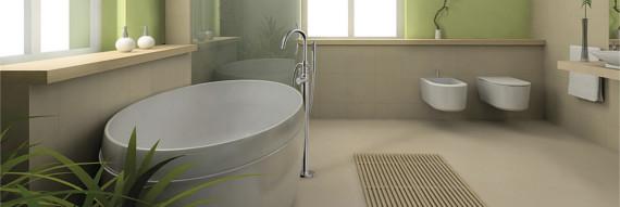 Freihstende Badewannenarmatur von Bravat