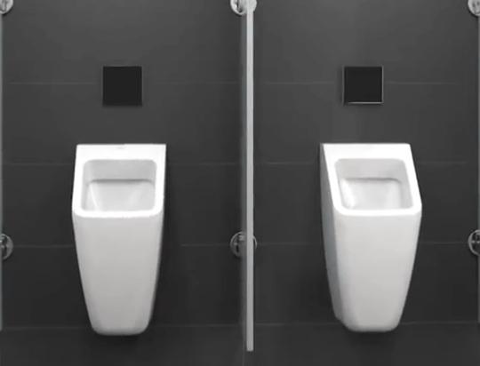 Urinale von Villeroy & Boch