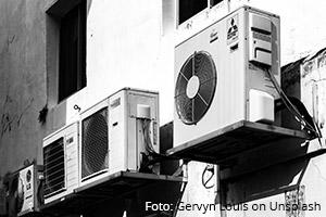 Alte Klimaanlagen am Haus