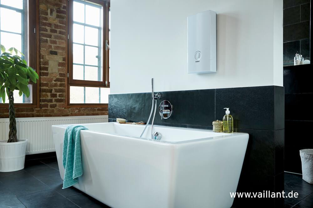 Durchlauferhitzer von Vaillant im Badezimmer