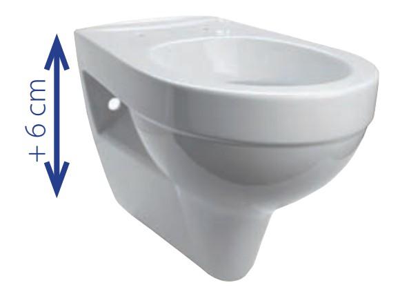 komfort wand wc tiefsp ler 6 cm erh ht mit wc sitz inkl absenkautomatik. Black Bedroom Furniture Sets. Home Design Ideas