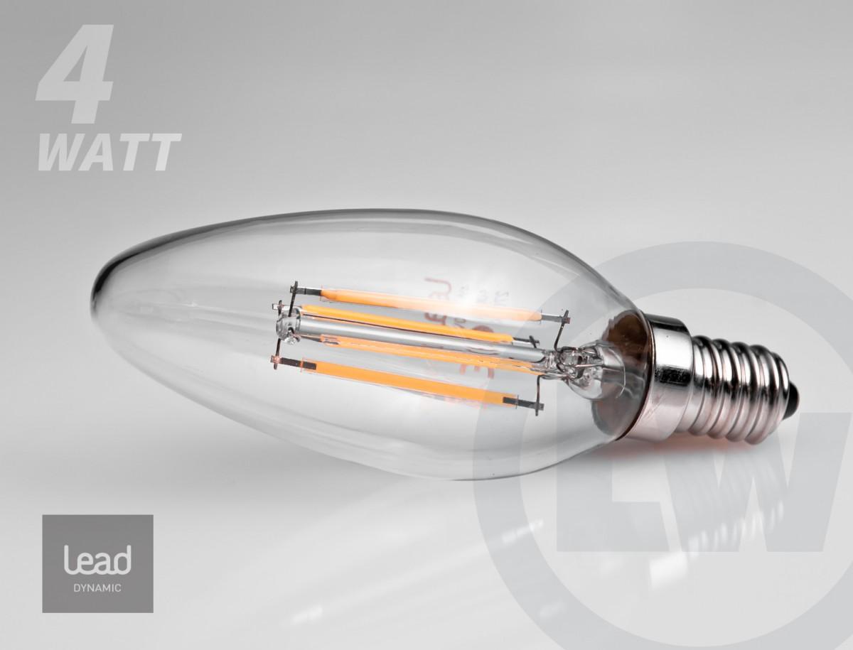 LEAD Energy LED Kerze E14 4W - Filament
