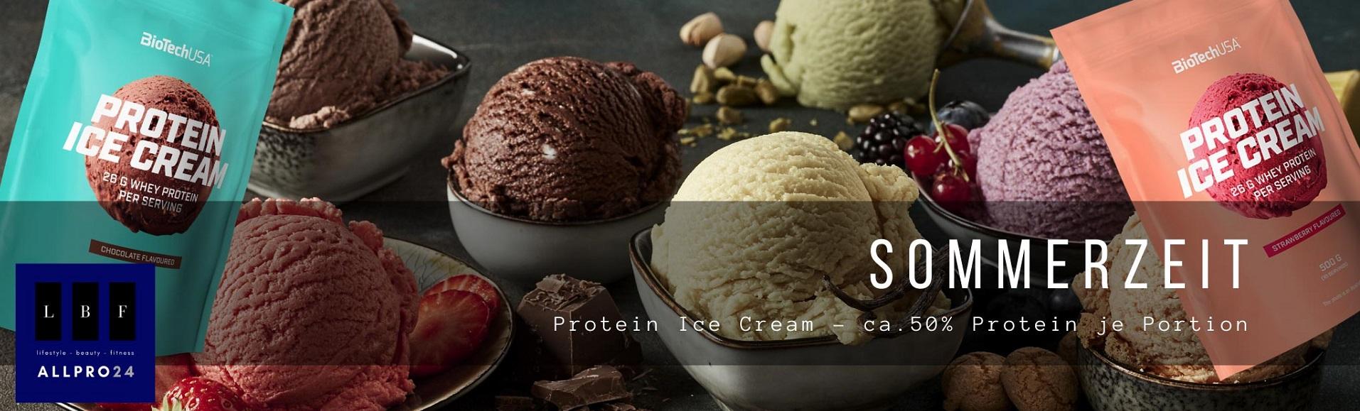 BiotechUSA Protein Ice Cream Erdbeere 500g