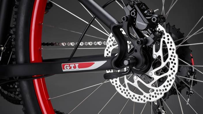 GTI Fahrrad Rahmengröße 48cm Mattschwarz/Rot Bike Kollektion   GTI Design, Rahmenhöhe 48cm, Mattschwarz/Rot, Bike Kollektion  000 050 230 BM – Bild 2